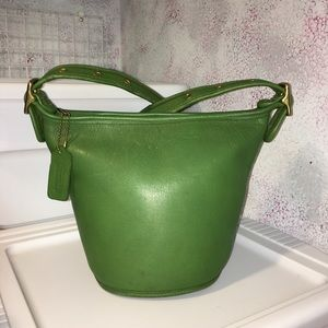 Coach Green Maggie Duffle Sac Bucket Bag